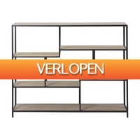 Xenos.nl: Vakkenkast Owen - metaal/MDF - 120x32x95 cm
