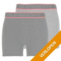 2 x Superdry tipped sport boxer