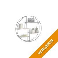 Veiling: rond houten wandrek