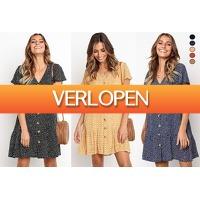 VoucherVandaag.nl: Casual button jurk