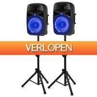 MaxiAxi.com: Vonyx VPS122 A geluidsinstallatie 800W met stands en LED's