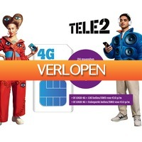 Groupdeal 2: Maandelijks 5 euro korting Tele2 Sim Only 10GB