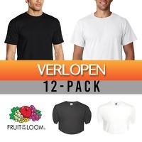 Slimmedealtjes.nl: 12 x T-shirts Fruit of the Loom