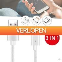 Wilpe.com - Elektra: 3-in-1 magnetische oplaadkabels voor Apple en Android