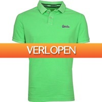 Suitableshop: Superdry Polo Fluor Groen