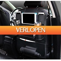 Uitbieden.nl: Luxe autostoel organizer met tablethouder en bekerhouder