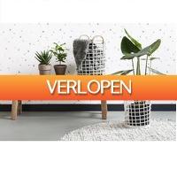 GroupActie.nl: Set van 2 hippe bamboe manden
