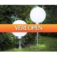 Voordeelvanger.nl: 2-pack solar LED-lichtbollen