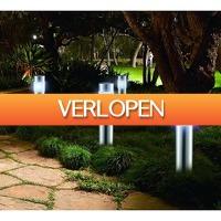 Koopjedeal.nl 2: Set van 4 Solar LED Tuinlampen in XL-formaat