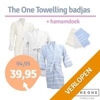 The One Towelling hamam badjas + handdoek