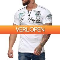 Brandeal.nl Casual: OneRedox T-shirt met knopen