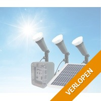 Alecto tuin solar zonnepaneel set