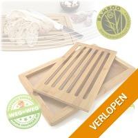Handige bamboe broodplank