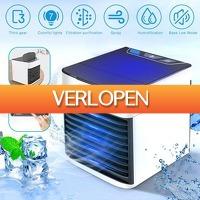 Priceattack.nl: USB Draagbare Mini Airconditioner Luchtbevochtiger Luchtreiniger, met  7 LED kleuren