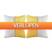 VidaXL.nl: 2 x vidaXL sierkussen met pailletten