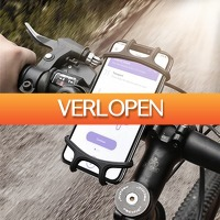 Dealbanana.com: Siliconen telefoonhouder voor op de fiets