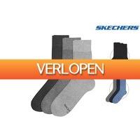 iBOOD.be: 12 paar Skechers casual sokken