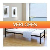 VidaXL.nl: Bedframe metaal zwart 90 x 200 cm