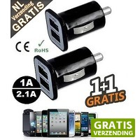 Mob-Com: 2 x USB dual car adapter