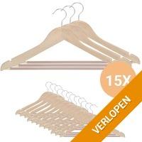 15 x houten kledinghangers