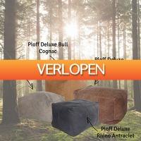 Kiesjekoopje.nl: Ploff Deluxe leren poef
