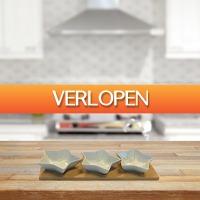 Gadgetsgift.nl: Serveerschaaltjes met bamboe plank