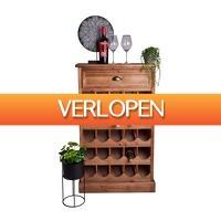 Xenos.nl: Wijnkast met lade