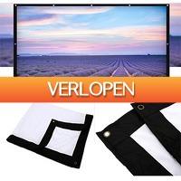 Uitbieden.nl: 16:9 compact opvouwbaar projectiescherm