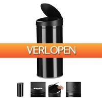 Grotekadoshop.nl: RVS prullenbak met sensor