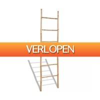 VidaXL.nl: Bamboe handdoekrek met 6 roedes