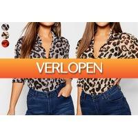 VoucherVandaag.nl: Blouse met panterprint