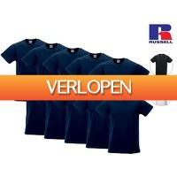iBOOD Sports & Fashion: 10 x Russell basic T-shirts