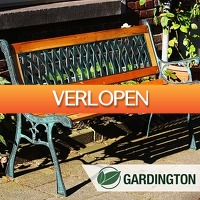 DealDigger.nl: Klassiek hardhouten gietijzeren tuinbankje