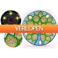 VoucherVandaag.nl: Diamond painting decoratieschaal met LED verlichting