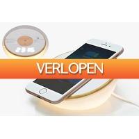 VoucherVandaag.nl: Klok met lamp en draadloze Qi oplader