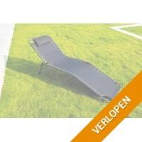 Veiling: Zwarte opvouwbare ligstoel van Feel Furniture