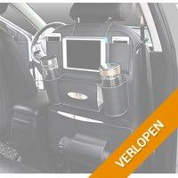 Luxe autostoel organizer met tablethouder en bekerhouder