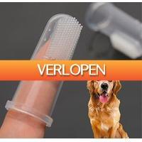 Uitbieden.nl 2: 2 x siliconen honden en katten tandenborstel