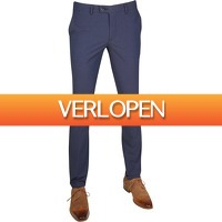 Suitableshop: Suitable Pantalon Pisa Dessin blauw