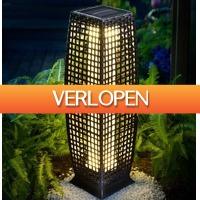 Grotekadoshop.nl: Solar tuinlamp wicker