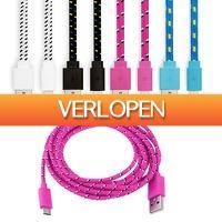 CheckDieDeal.nl 2: Gevlochten Lightning USB-kabel 2 meter