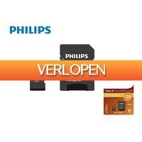 DealDonkey.com 4: Philips Micro SDXC 128GB met adapter