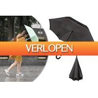 VoucherVandaag.nl: Omkeerbare paraplu in 14 designs