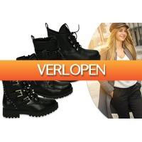 VoucherVandaag.nl: Zwarte biker boots