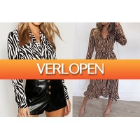 VoucherVandaag.nl: Dames jurk en blouse met print