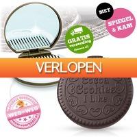 voorHAAR.nl: Grappige cookie spiegel en kam