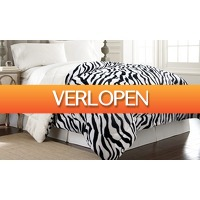 Groupon 2: Omkeerbare fleece zebra-sprei