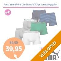 Puma boxershorts verrassingspakket Combi/Stripe