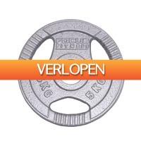 Betersport.nl: Halterschijf 30 mm - Focus Fitness Hamerton - 5 kg