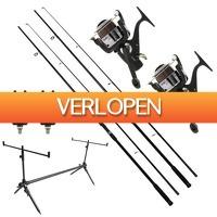 Visdeal.nl: Carp Set met NGT hengels, vrijloopmolens en meer